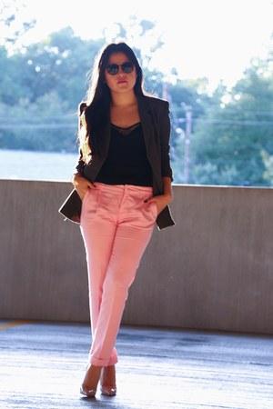 Zara pants - vintage blazer - Zara top - Christian Louboutin heels