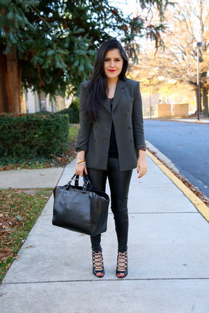 Zara bag - vintage blazer - Zara pants - Zara sandals - Zara top