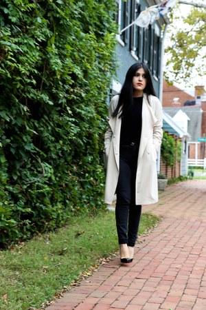 H&M coat - Zara jeans - H&M bag - Zara top - heels heels