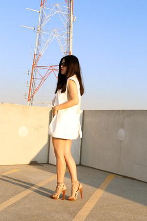 Zara shorts - Gap top - Zara vest - Zara heels