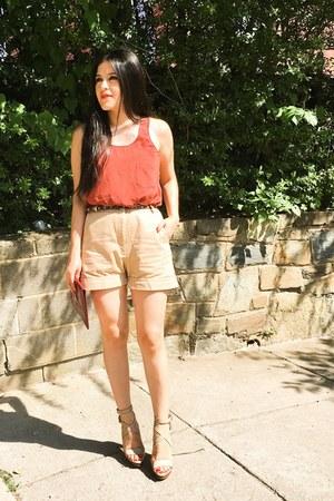 ann taylor top - Zara heels