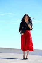 Zara accessories - Ralph Lauren shirt - vintage skirt - Zara heels
