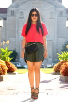 Zara skirt - Barneys New York bag - Zara sandals