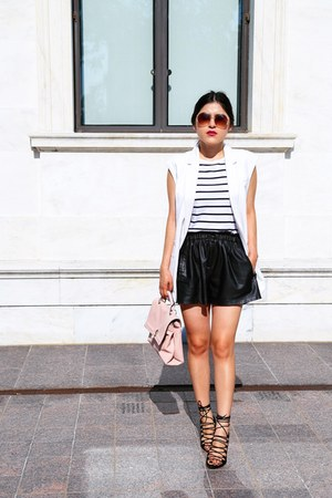 Zara shorts - Zara vest - Mango heels