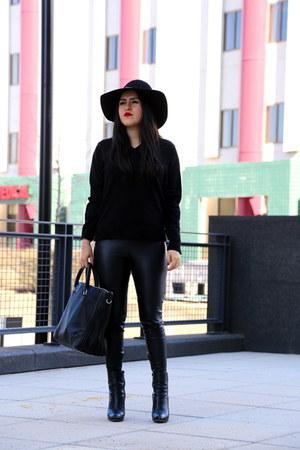 Zara bag - Boutique 9 boots - Gap sweater - Zara pants