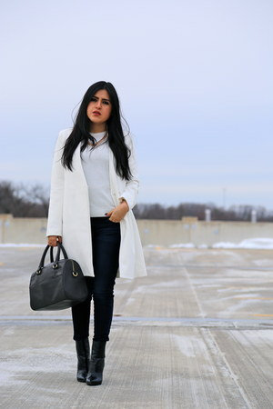 Zara boots - Zara coat - Zara jeans - unknown sweater - Zara bag