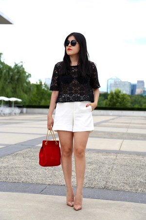 abercrombie and fitch top - Zara shorts - H&M sunglasses