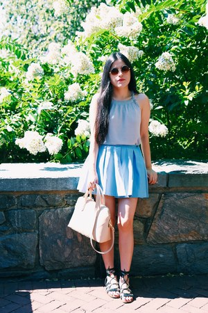 Zara bag - Zara skirt - banana republic top - Zara sandals