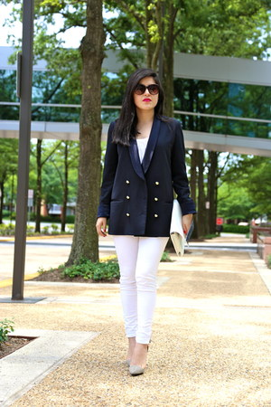 Zara jeans - Zara blazer - Zara bag - Renvy heels - Zara top