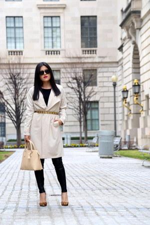 Zara jeans - H&M coat - Zara bag - tony bianco heels - asos belt