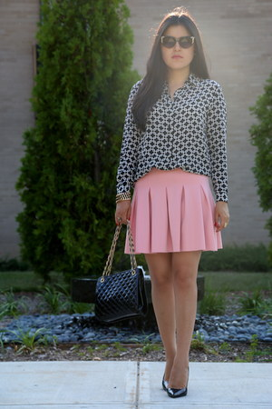 Zara heels - H&M sunglasses - Zara skirt - Zara bracelet - Jones New York blouse