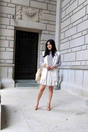 Zara dress - Zara bag - Zara top - Christian Louboutin heels - Zara vest
