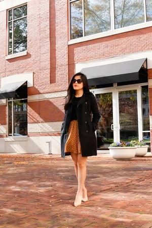 Zara coat - Zara bag - Old Navy skirt - Zara t-shirt - Christian Louboutin heels