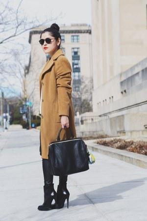 Zara boots - banana republic coat - madewell sweater - Zara bag - Zara pants