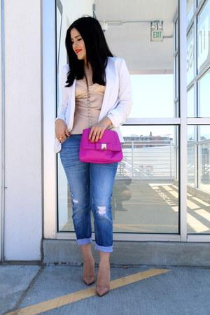 kate spade bag - Zara jeans - Mango blazer - Christian Louboutin heels