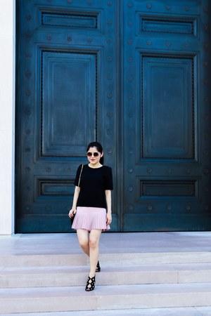 Zara top - bcbg max azria skirt - Zara heels