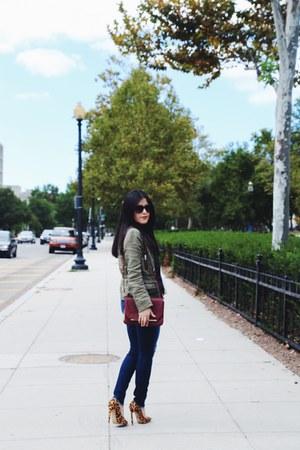 Zara jacket - J Brand jeans - Zara bag - Zara top - tony bianco heels