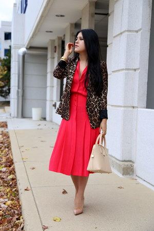 Zara blazer - vintage dress - Zara bag - Christian Louboutin heels