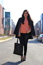 Zara jeans - vintage coat - Zara bag - Zara sandals - unknown top