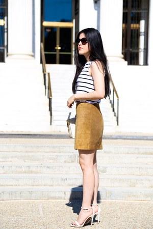 Zara top - banana republic skirt - Zara heels