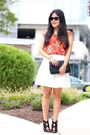 Zara bag - Zara skirt - edme & esyllte blouse - Zara sandals