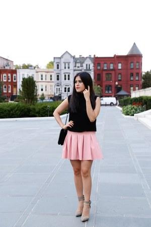 Zara top - Zara bag - Zara skirt - Renvy heels
