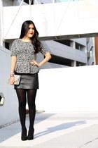 Zara skirt - vintage bag - Schutz heels - Zara top