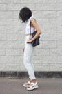 Light-blue-light-denim-american-apparel-jeans-black-vintage-bag