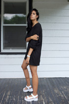 black norse shirt cyeoms top - white mayview sandal Jeffrey Campbell sandals