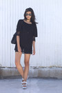 Navy-open-knit-zara-sweater-black-pocket-t-cyeoms-shirt
