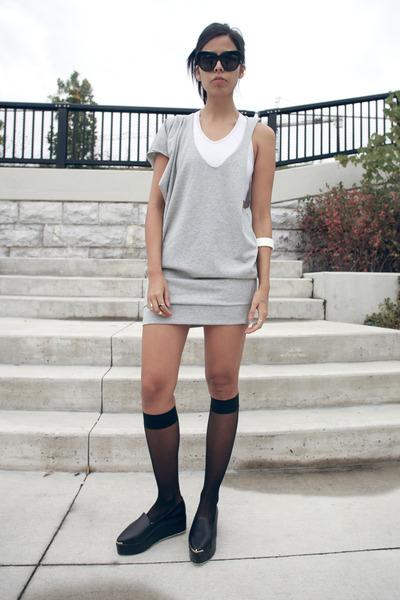 heather gray melissa araujo dress - white sports bra adidas intimate