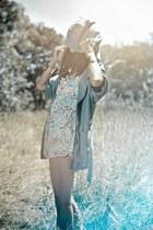 sky blue 1dad jacket cyeoms jacket - ivory salt romper cyeoms romper