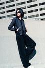 Black-bomber-wilfred-jacket-black-palazzo-zara-pants
