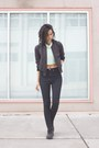 Black-8-high-waist-blk-dnm-jeans-dark-gray-bomber-wilfred-jacket