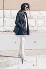 White-sneakers-etonic-shoes-white-ghost-cyeoms-dress-black-parka-zara-jacket