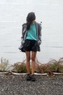 Heather-gray-chela-coat-cyeoms-coat-black-leather-shorts-zara-shorts