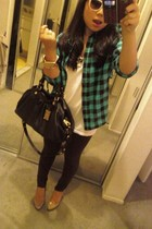 Wet Seal blouse - Hanes shirt - Marc by Marc Jacobs purse - Guess shoes - foreve