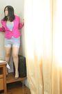 Pink-vintage-blazer-silver-zara-shoes