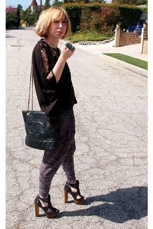 Chanel bag - Jessica Simpson heels - harem pant Pepper pants - tunic handmade to