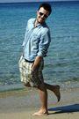 White-louis-vuitton-sunglasses-blue-h-m-shirt-brown-d-g-belt-gold-energie-