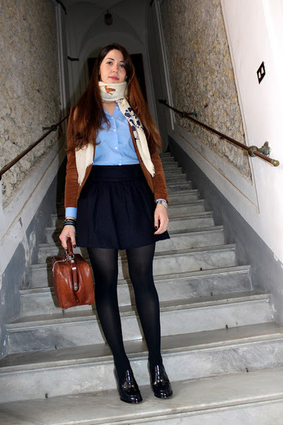 velvet Zara blazer - cotton Fred Perry shirt - wool Massimo Dutti scarf