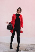 ruby red bought in NY coat - black Naketano sweater - black Alcott leggings - bl
