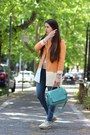 Eggshell-leather-studio-pollini-shoes-light-orange-cotton-zara-coat