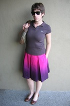 Express skirt - Lacoste shirt - Gucci purse - aerosoles shoes