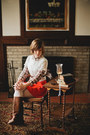 Brown-vintage-boots-red-vintage-dress-white-unknown-stockings