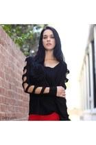 black Dailylook boots - red Dailylook jeans - black Dailylook shirt