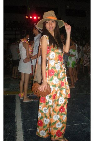 my own design dress - adidas hat - Havaianas flats