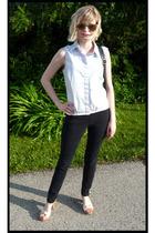 banana republic shirt - Target jeans - vintage shoes - vintage sunglasses