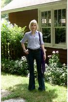 Converse shirt - Levis jeans - vintage purse