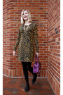 Yellow-rodarte-dress-black-kenneth-cole-shoes-purple-coach-purse-gold-targ